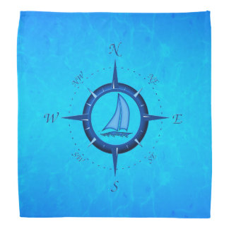 Sailboat And Compass Rose Do-rag