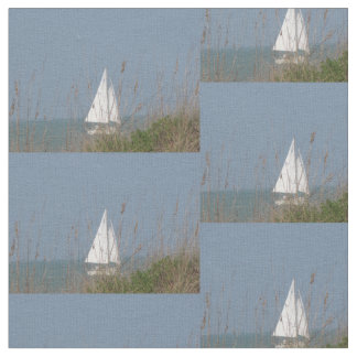 Sailboat and seagrass fabric