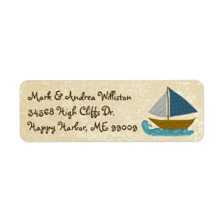 Sailboat Art Fun Nautical Return Address Labels
