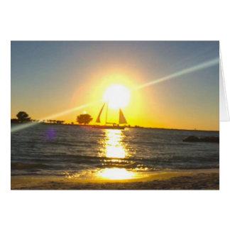 Sailboat at Sunset Card