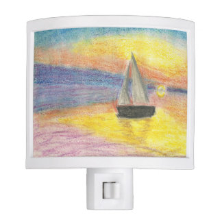 Sailboat at Sunset Night Lites