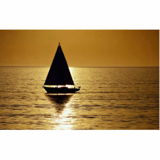 Sailboat at sunset, sloop acrylic cut out