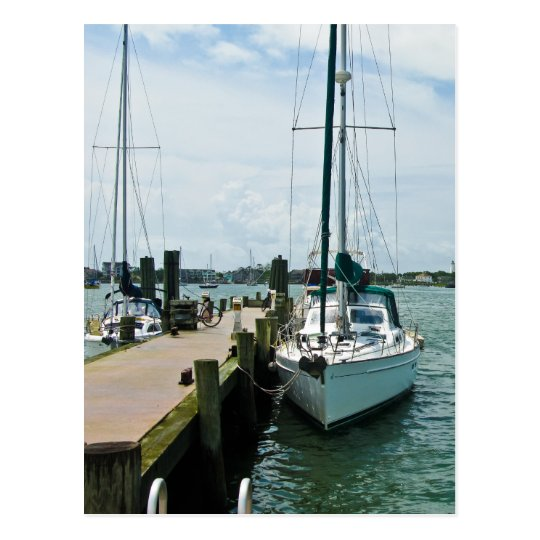 Sailboat at the Dock Postcard
