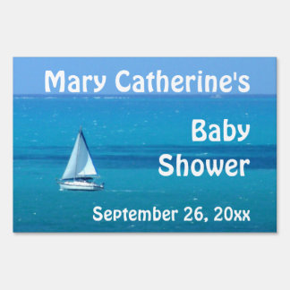 Sailboat Baby Shower Sign