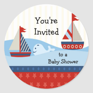 Sailboat Baby Shower Sticker