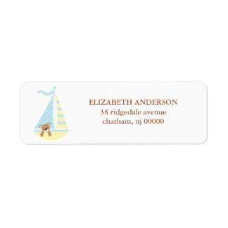Sailboat Bear Return Address Labels