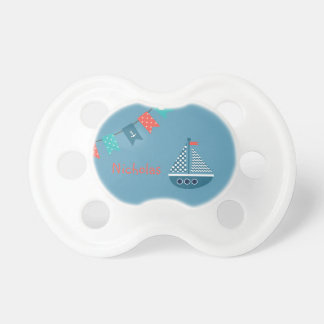Sailboat Boat Anchor Personalized Pacifier