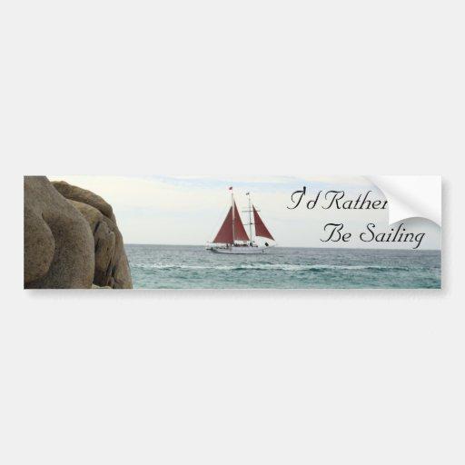 Sailboat Bumper Sticker