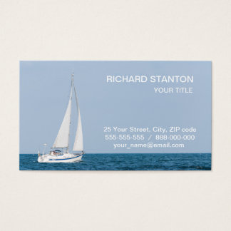 Sailboat Business Card
