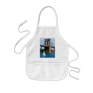 Sailboat by the Brooklyn Bridge Kids Apron
