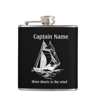 Sailboat Captain Custom Flask