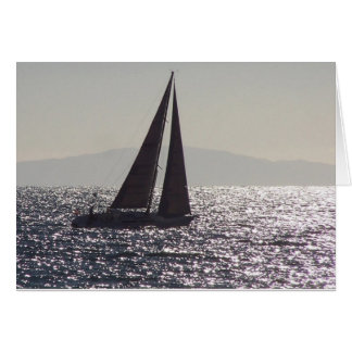 Sailboat & Catalina Island Card