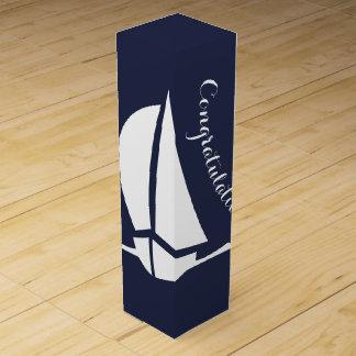 Sailboat Congratulations Wine Gift Box