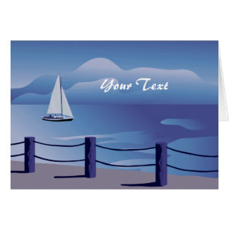 Sailboat Custom Sailing Greeting Card