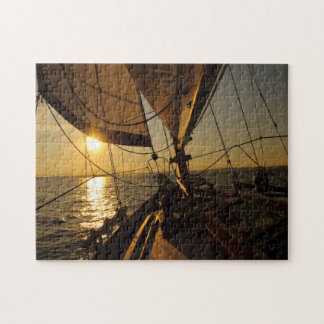 Sailboat Deck, Heading Into Setting Sun Puzzle