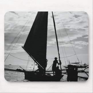 Sailboat Docked On The Shore Mouse Pad