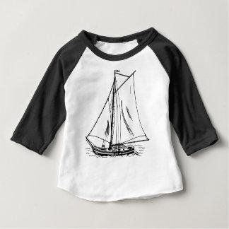 Sailboat Drawing Vintage Baby T-Shirt