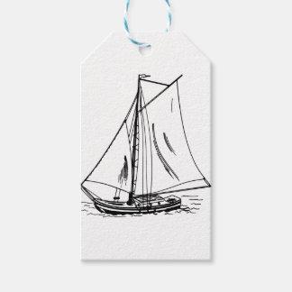 Sailboat Drawing Vintage Gift Tags