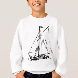 Sailboat Drawing Vintage Sweatshirt