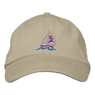 Sailboat Embroidered Hat
