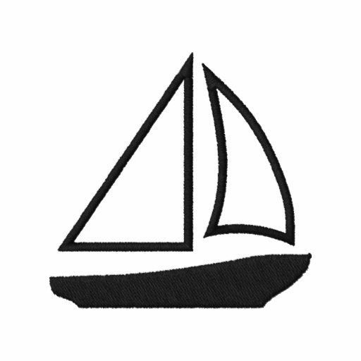Sailboat-Embroidered Men's T Shirt