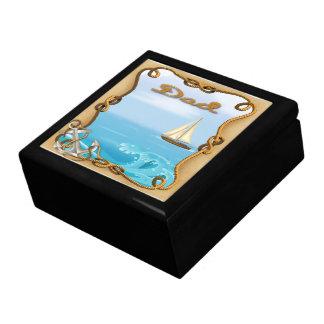 Sailboat Father's Day Gift Box/Trinket Box Jewelry Box
