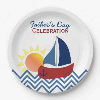 Sailboat Father's Day Paper Plates