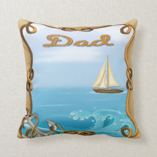 Sailboat Father's Day Throw Pillow