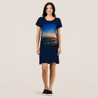 Sailboat Flotilla in Silhouette 1 Dress