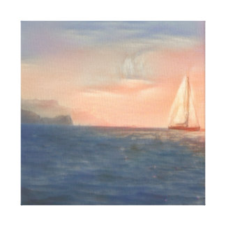 Sailboat from Capri Canvas Print