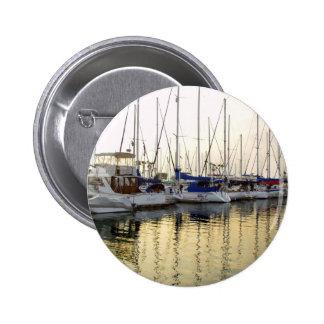 Sailboat & Golden Ocean Reflection 2 Inch Round Button