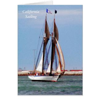 Sailboat in a Brisk Wind Card