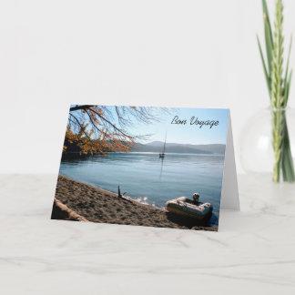 Sailboat in Islands Bon Voyage Greeting Card