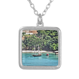 Sailboat in the Bay Silver Plated Necklace