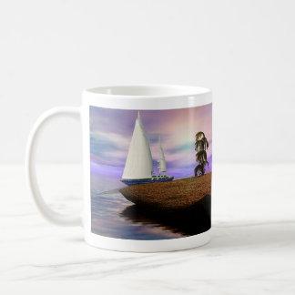 Sailboat in the Ocean Coffee Mug