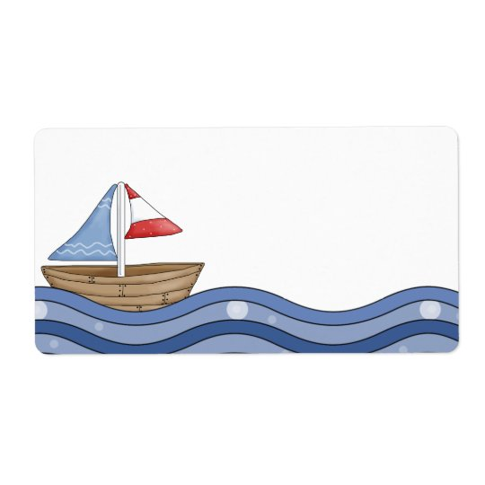Sailboat Label Shipping Label