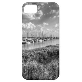 Sailboat Marina and Lush Grasslands Black White iPhone 5 Case