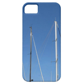Sailboat masts in the marina against a blue sky case for the iPhone 5