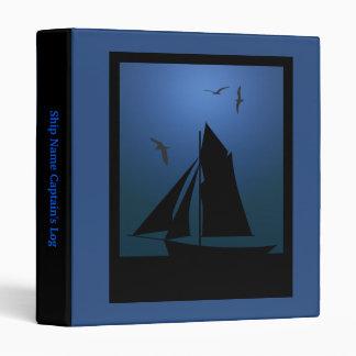 Sailboat Nautical Captain's Log Book Binder
