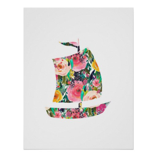 Sailboat nautical wall print nursery art