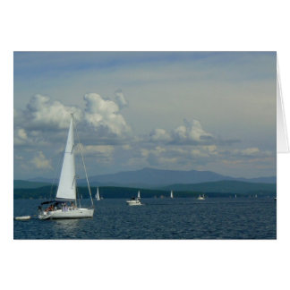 Sailboat on Lake Champlain Card