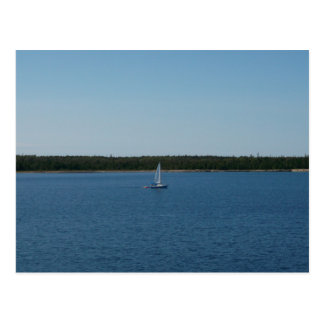 Sailboat on Lake Ontario Postcard