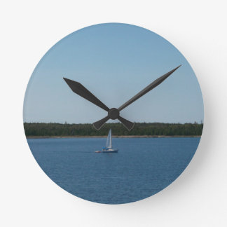 Sailboat on Lake Ontario Wall Clock
