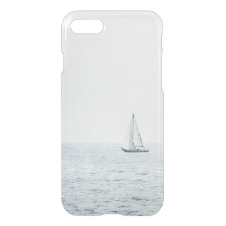 Sailboat on Misty Blue Ocean Water Sail Boats iPhone 7 Case