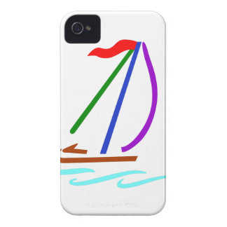 Sailboat Outline iPhone 4 Cases