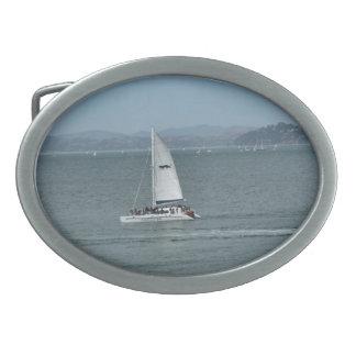Sailboat Oval Belt Buckles