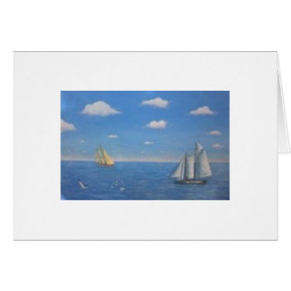 Sailboat painting card