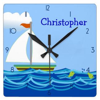 Sailboat Personalized Wall Clock