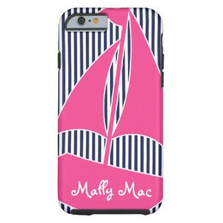 Sailboat PInk Monogram Preppy iPhone 6 case