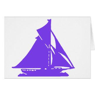 Sailboat Purple lg-transp Vero Beach The MUSEUM Za Cards
